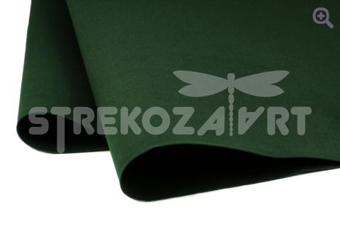 Фоамиран (Иран) 60*70 толщина 1мм, цвет: насыщенный темно-зеленый