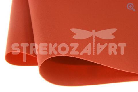 Фоамиран (Иран) 60*70см, цвет: красно-оранжевый