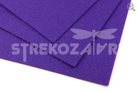 Фетр 20*30, мягкий, толщина 1мм темно-фиолетовый