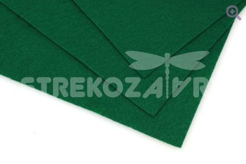 Фетр 20*30см, мягкий, толщина 1мм, цвет: темно-зеленый