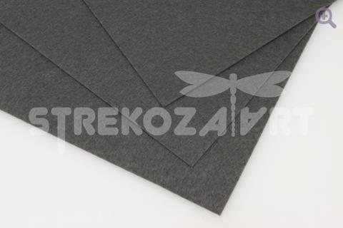 Фетр 20*30см, мягкий, толщина 1мм, цвет: темно-серый
