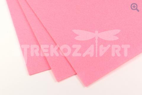 Фетр 20*30, мягкий, толщина 1мм ярко-розовый