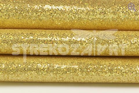 Искусственная кожа чешуйки 29*19см, цвет: золото