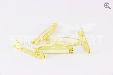 Брошь (значок)-основа 3,5см металл, цвет золото