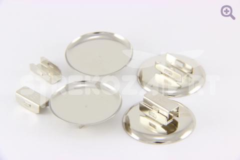 Основа-держатель для резинки 25мм (металл) цвет серебро