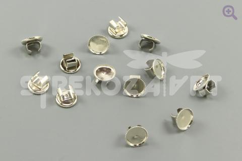 Основа-держатель для резинки 8мм (металл), цвет: серебро