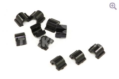 Основа для резинки (пластик) 9мм, цвет: черный, 10шт