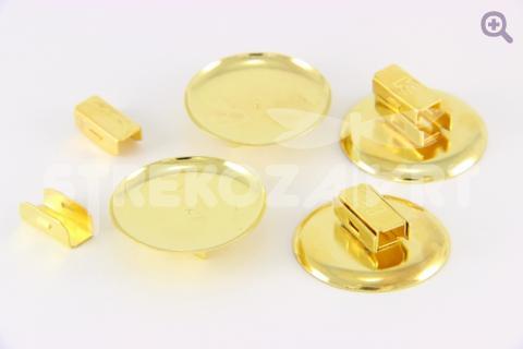 Основа-держатель для резинки 30мм (металл) цвет золото