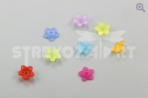 Шапочка для бусины акрил, 10*4мм, цвет: микс, 20шт