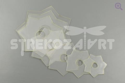 """Набор шаблонов для бантиков """"Звезда 7 лучей"""", комплект из 7шт, d: 10, 9, 8, 7, 6, 5, 4см"""