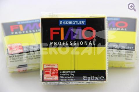 Полимерная глина Fimo Professional желтый, 85гр