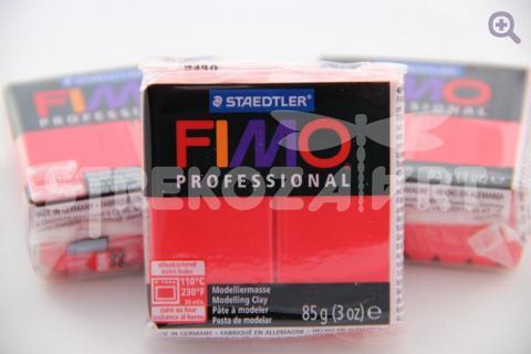 Полимерная глина Fimo Professional чисто-красный, 85гр СТАРЫЙ ПРИХОД