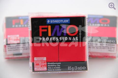 Полимерная глина Fimo Professional пунцовый, 85гр СТАРЫЙ ПРИХОД