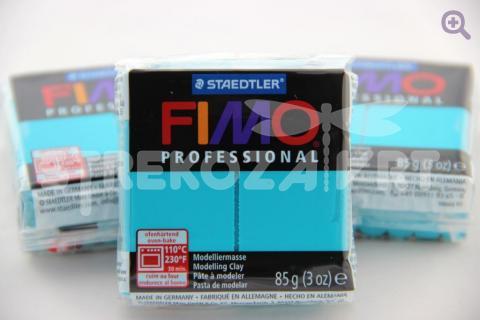 Полимерная глина Fimo Professional бирюзовый, 85гр СТАРЫЙ ПРИХОД