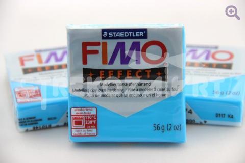 Полимерная глина Fimo Effect полупрозрачный синий, 56гр