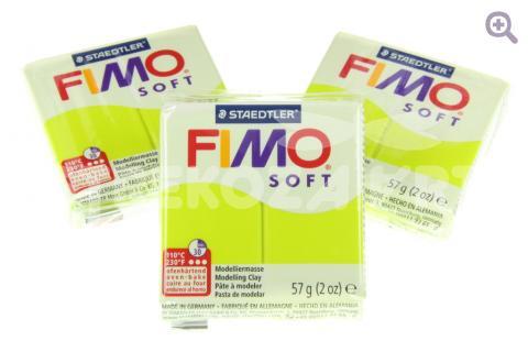 Полимерная глина Fimo Soft зеленый лайм, 56гр