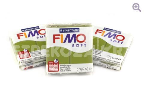 Полимерная глина Fimo Soft оливковый 56гр