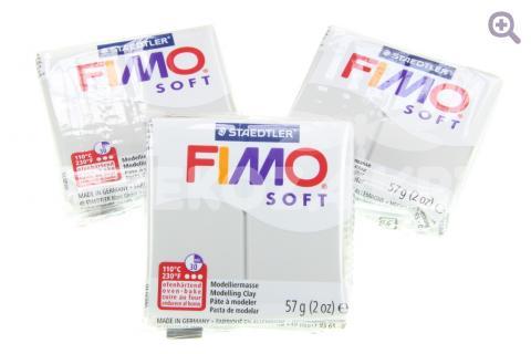 Полимерная глина Fimo Soft серый дельфин, 56гр СТАРЫЙ ПРИХОД