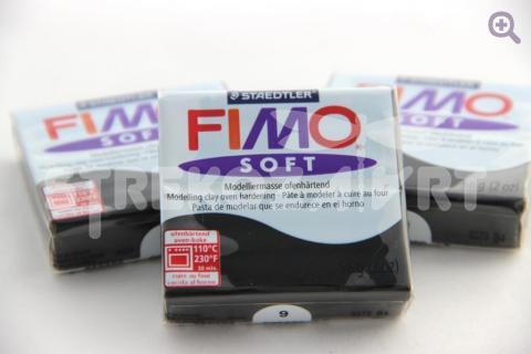 Полимерная глина Fimo Soft черный, 56гр