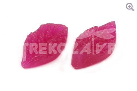 Молд Лист дикой розы (2шт), 4,5*2,5см