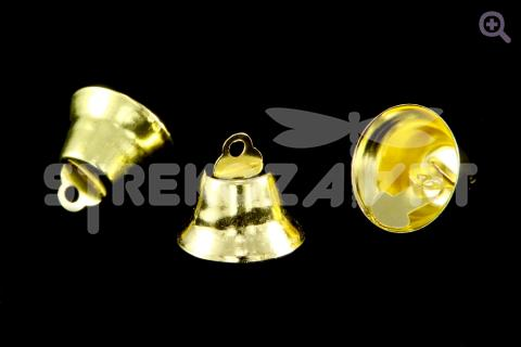 Колокольчик 14мм, цвет: золото