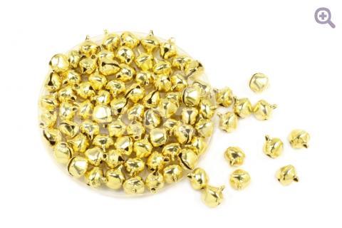Бубенчики 10мм, цвет: золото, упак. 10шт