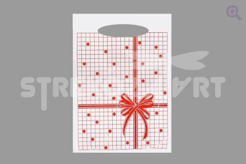 """Подарочный пакет """"Клетка"""", 22*36см"""