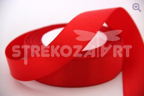 Лента атласная 3мм, цвет: красный