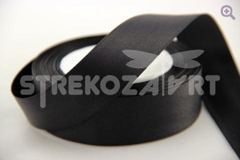Лента атласная 3мм, цвет: черный