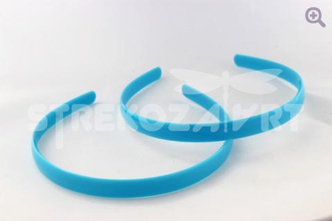 Ободок 12мм (пластик) голубой