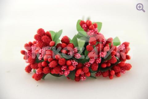 Букетик декоративный, цвет: красный