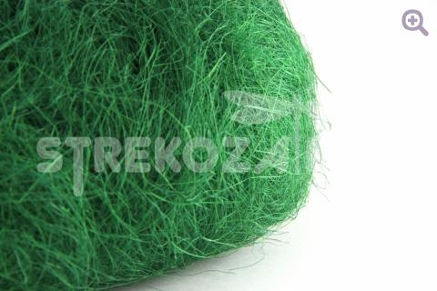 Сизаль (натуральное волокно) цвет: темно-зеленый, 40-50гр