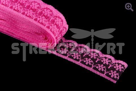Кружево 20мм, цвет: темно-розовый