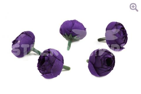 Камелия (ткань) 3см, цвет: фиолетовый