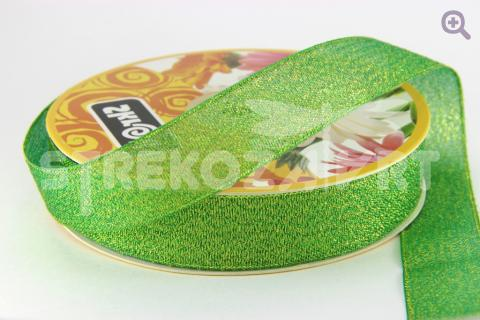 Лента парча 6мм, цвет: зеленый